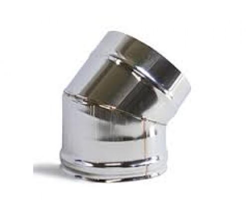 CURVA INOX SIMPLES 125X45º