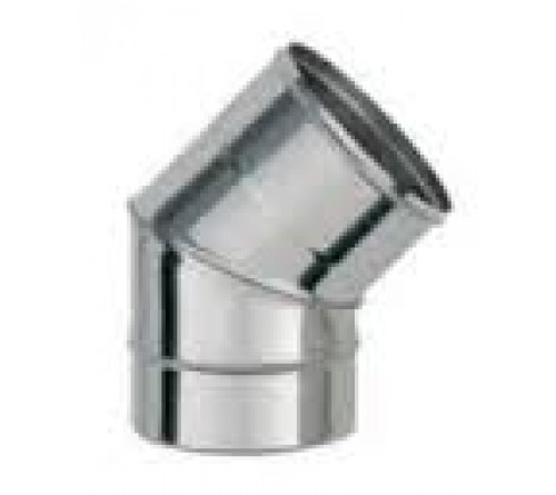 CURVA INOX SIMPLES 180X45º