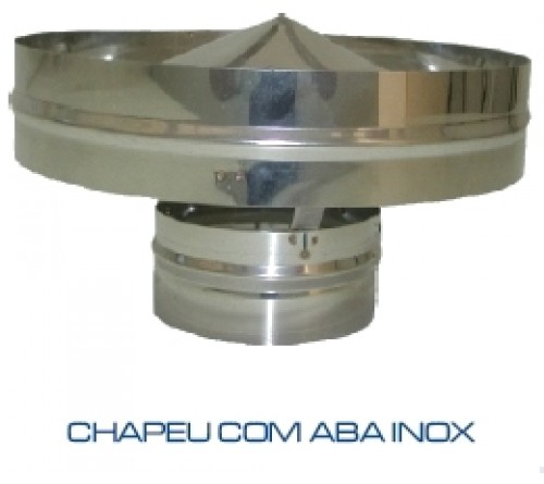 CHAPEU INOX ANTI-RETORNO 125MM