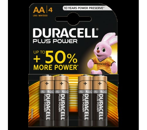 PILHA DURACELL PLUS POWER AA LR6 4UNID