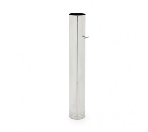 TUBO INOX REDONDO 125 MM  C/REGISTO