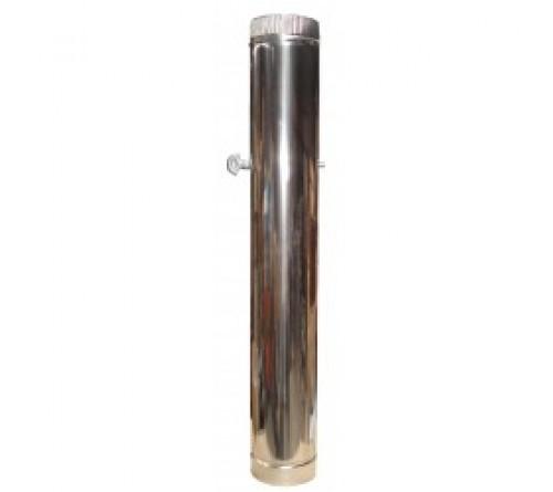 TUBO INOX REDONDO 100 MM  C/REGISTO