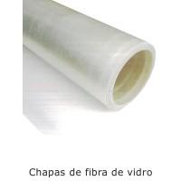 CHAPA DE FIBRA DE VIDRO LISA 1,20MTS