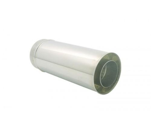 TUBO INOX PAREDE DUPLA 80/130