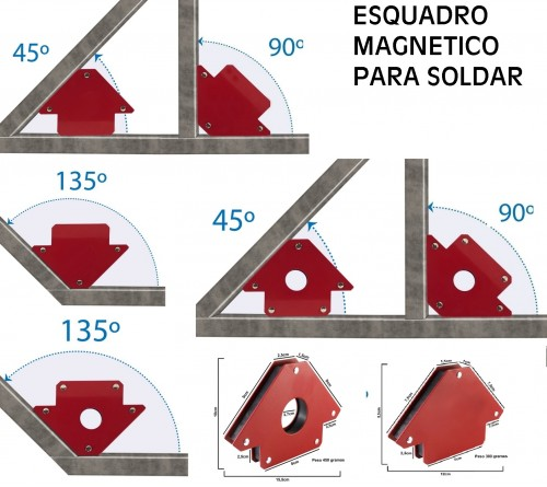 ESQUADRO MAGNETICO PARA SOLDAR 85X85MM