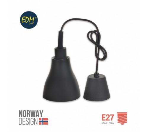 SUPORTE LAMPADA E27 PRETO