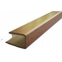 PERFIL PVC REGUA MADEIRA REMATE/ ARRANQUE  3MT