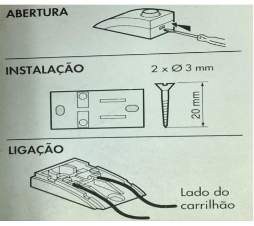 BOTAO DE PRESSAO VERTICAL MBT GP